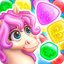 Match3 Magic: Prince unicorn lovely story quest